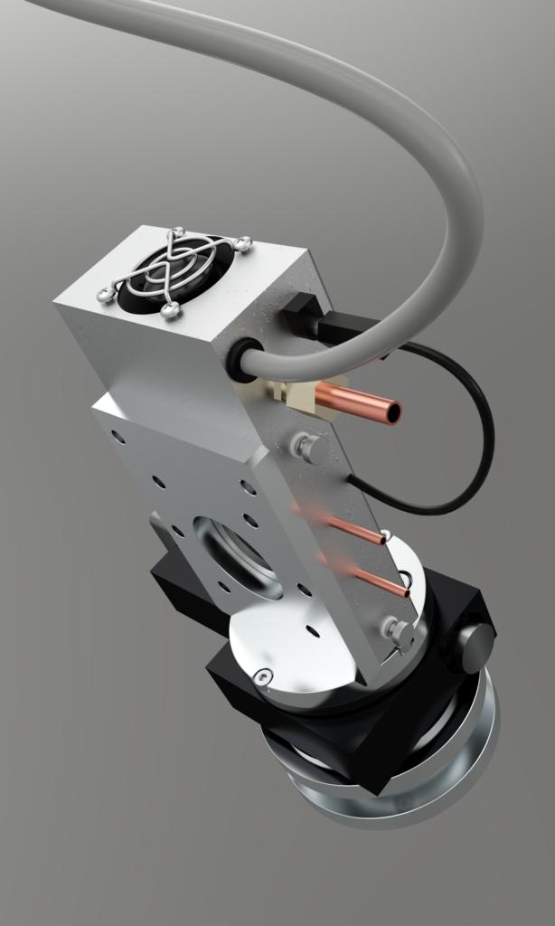 adaptateur entre four instec et platine de rotation